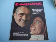 VINTAGE JULY 1972 ESQUIRE MAGAZINE - GROUCHO MARX AT 81