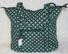 VERA BRADLEY Collegiate Tote Shoulder Bag Dark Green White Mini Concertor $100