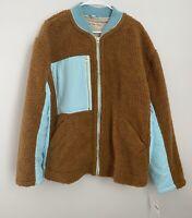 Free People Rivington Sherpa Fleece Jacket. NWT. Size LARGE. Retail- $168 Amber