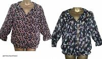 BN LADIES NEXT FLORAL PRINT SUMMER BLOUSE TOP SHIRT TUNIC Size 8 10 12  RRP:£26