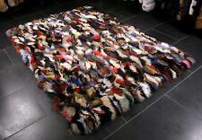 1315 Multicolor Fellteppich aus Blaufuchsstücken Pelz Fell Teppich Fuchs Pelz