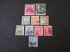 SPAIN, SCOTT # 539/540(2)+542+543+545+546-550(5),1932-35 PICTORIAL ISSUES USED