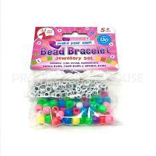 Bead Bracelet Jewellery Set Kid Plastic Necklace Make Your Own Toy Girl Alphabet