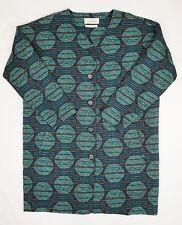 Seasalt Crocosmia Woven Tapestry Style Collarless Hemp Cotton Coat Size 16