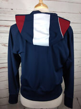 Reebok Classic Full Zip Womens Track Jacket Color Block Hoodie Blue Poly  XL