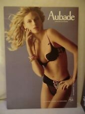 AUBADE Large Cardboard Stand POS Advertising Sexy Lingerie Nude, 38cm x 53cm