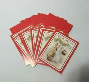 x8 Invitations Beatrix Potter Peter Rabbit Gibson 1989 Vintage w/Envelopes