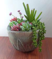 Artificial Mix Flocking Pearl bean Hang Mini Succulents Plants Grass Set of 8