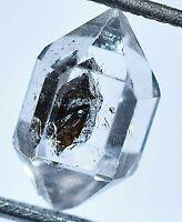 4.40 Ct Rare Herkimer Diamond Water Clear Quartz Crystal Anthraxolite Rough