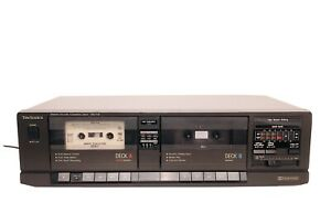 Vintage Technics RS-T16 Stereo Double Cassette Tape Deck ( Tested)
