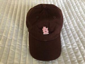 NEW T.E.I. WOMEN'S Brown / Pink MLB St. Louis CARDINALS Baseball Cap Adjustable