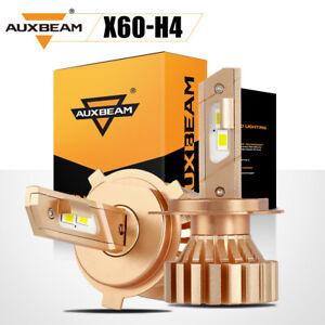 AUXBEAM H4 9003 HB2 SUPER WHITE LED Headlights Bulbs Kit High Low Beam Fanless