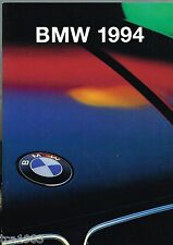 1994 BMW Brochure/Catalog:325iC,318is,325is,318i,325i,525i,530i,540i,740i,850CSi