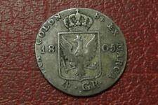 Alemania Prusia 1805 Plata 4 Groschen (848)