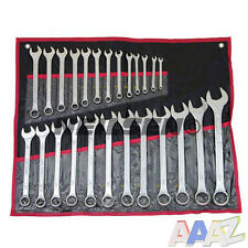 25 pc Metric Combination 25pc Ring Open Ended Spanner Garage Tool Set 6mm - 32mm