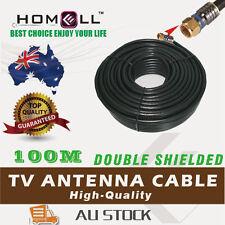 Y-RG6D-100M RG6 Dual Shield TV Antenna Digital/ Coaxial Cable With F Metal Plug