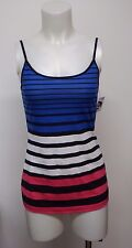tank top Bobbie Brooks Shirt blue Stripped summer cami adjustable straps Medium