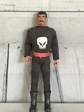 1990's 12� Frontier Hero Doll By In Time Products Skull Jumpsuit Boots Mustache