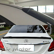 Painted forMercedes-BENZ 15+ W205 Sedan OE Roof & V Type Boot Trunk Spoiler C200