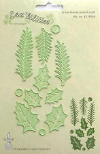 LeCrea' Multi Die Cutter-Holly Leaves Pine branches, card making, 9920