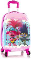Trolls Poppy Branch Hardside Spinner Rolling Luggage for Kids - 18 Inch [Pink]