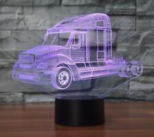 3D Truck Car Night Light 7 Color Change LED Desk Lamp Touch Room Decor NEW 2018