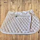 SUPRACORE Dressage Saddle Pad White Quilted Equestrian Horse Large