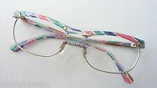 R+H Gute-Laune-Brille Metallfassung buntes Acetatoberteil+Bügel Eyecatcher sizeL
