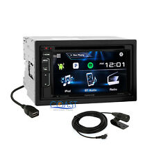 "Kenwood 6.2"" LCD Car Radio Stereo DVD USB Sirius Xm Ready Dual Phone Connection"