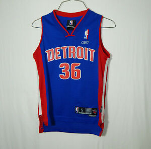 Rasheed Wallace Detroit Pistons NBA Basketball Jersey Boys Reebok YOUTH SMALL S