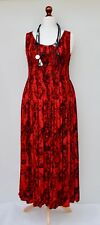 LAGENLOOK OVERSIZED SUMMER HOLIDAY HAND MADE LONG DRESS**RED**BUST UP TO 54""