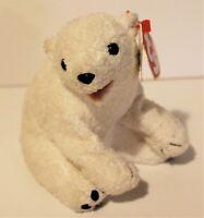 Ty Beanie Babies Aurora The Polar Bear Plush Retired With Tag
