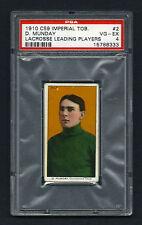 PSA 4 1910 C59 LaCROSSE CARD #2 D. MUNDAY