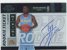 2009-10 CONTENDERS #116 TY LAWSON ROOKIE AUTO. NUGGETS