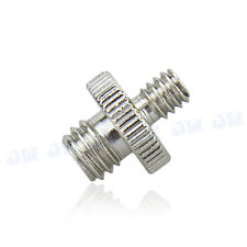"""1/4"""" Male Threaded to 3/8"""" Male Threaded Double Male Screw Adapter for Camera"""