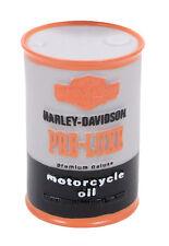 "Harley Davidson Oil Can Vinyl Dog Toy 4.25"""