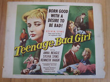TEENAGE BAD GIRL Sylvia Syms Original 1957 Juvenile Delinquent movie poster