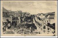 Bad Salzuflen alte Postkarte 1921 gelaufen Blick auf die Parkstraße Strasse