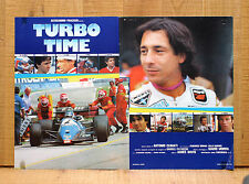 TURBO TIME fotobusta poster Auto Racing Car Driver Formula Uno Lucchinelli M17
