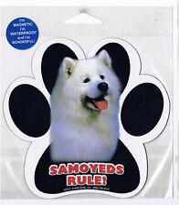 Samoyeds Rule Waterproof Bumper Sticker Magnet NIP