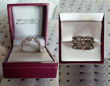 BNINB Zamel's Silver Wide Band Zirconia Ring