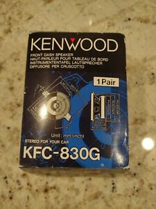 NOS Kenwood 30 Watt Front Dash Speakers KFC-830G c2
