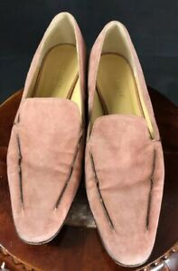 WOMENS Coral BROWN Trim SUEDE SIZE 7.5AA AMALFI SLIP ON SHOE