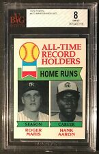 1979 Topps Roger Maris & Hank Aaron BVG 8 NM-MT #413 All Time Record Holders MLB