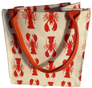 Small Lobster Print Canvas Tote/Gift Bag Eco-Friendly