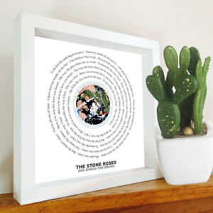 The Stone Roses - She Bangs The Drums - Framed Lyrics Manchester Bands - Indie