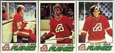 6 1977-78 TOPPS HOCKEY ATLANTA FLAMES CARDS (PLETT RC/BOUCHARD/MYRE+++)