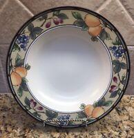 "Set of 4 Mikasa Garden Harvest CAC29 Intaglio Soup Bowl Plates 9 3/8"""
