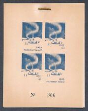 Norway 1955 Christmas Seals 50th Anniv set of 6 progressive proof sheetlets NH