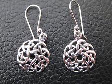 Keltischer Knoten 925'er Silber Ohrringe Ohrhänger Paar / OR 403
